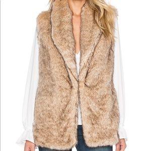 Sanctuary faux fur long vest. Size M